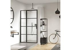 The new 'Soho' shower screen marries high-specification functionality with on-trend aesthetics to offer a unique, design-led option for wetrooms and shower areas. Framed Shower Door, Shower Doors, Soho, Steel Doors And Windows, Warehouse Home, Crittall, Restroom Design, Shower Panels, Shower Screens