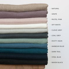 Samples of Linen fabric,Samples of Softened linen fabric by yard,Natural Linen Fabric Sampling,Stonewashed Linen Swatches,Pure Linen Samples Linen Couch, Linen Pillows, Linen Bedding, Linen Fabric, Bed Linens, Bedding Sets, Grey Comforter, Cushions, Blue Raven