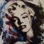 "Justin Seeley ""Marilyn Monroe"" Acrylic on Canvas for sale at thefunkyartgallery.com £200"