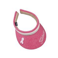 d65795f802ab Titleist Ladies Pink Ribbon Clip On Golf Visor - Stylish way to keep the  sun at