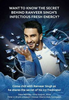 Chill with Ranveer Singh at the launch of Colgate MaxFresh Power Freeze at…