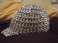 can tab/soda tab, Pop Tab Hat! Pop Top Crafts, Can Tab Crafts, Soda Can Crafts, Pop Tab Purse, Plastic Bottle Tops, Pipe Cleaner Crafts, Pipe Cleaners, Pop Can Tabs, Soda Tabs