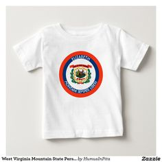 West Virginia Mountain State Personalized Flag Infant T-shirt