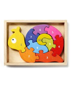 Educational Gifts for Kids: Number Snail Puzzle #zulily #ad *so cute