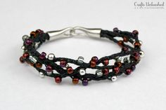 Winterberry-Beaded-Woven-Bracelet-Crafts-Unleashed-1. cute and easy! I've made several now, with differing color ideas. my end tubes were different, but I love the look of this bracelet!