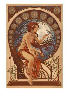 Motifs Art Nouveau, Art Nouveau Mucha, Design Art Nouveau, Alphonse Mucha Art, Art Nouveau Poster, Art Nouveau Tattoo, Tattoo Art, Art And Illustration, Illustrations