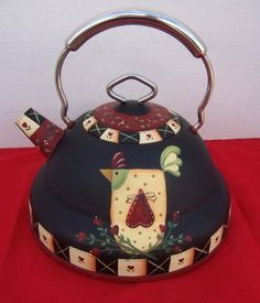 Painted Tea Pot