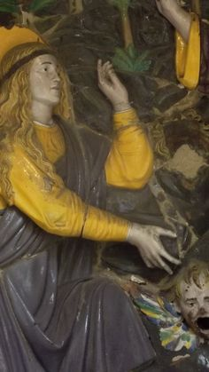 Bottega di Giovanni Della Robbia: Cristo risorto appare alla Maddalena (terracotta policroma, fine XV sec.)