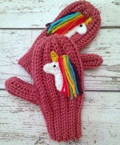 These pink mittens with unicorn applique is perfect for any unicorn loving girl! Crocheted out of 100% Premium Acrylic yarn, making them nice a soft