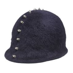 Patrick McDonald's Spiked Helmet Hat | From a collection of rare vintage hats at https://www.1stdibs.com/fashion/accessories/hats/
