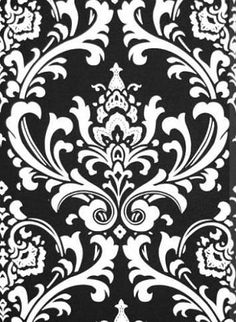 Black White /& Gray Modern Floral P Kaufmann Designer Discount Upholstery or Home Decor Fabric Cotton Remnant for chairs aprons etc