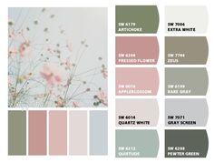 ColorSnap by Sherwin-Williams – ColorSnap by Karol W. Color Schemes Colour Palettes, Room Color Schemes, Colour Pallete, Color Combos, Olive Green Color, Green Colors, Pink Color, Colours, Vintage Colors