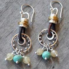 handmade earrings by ghettoflower