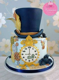 Mad Hatter Cake Ideas From Alice In Wonderland 10 Mad Hatter Cake Ideas From Alice In Wonderland · The Inspiration Mad Hatter Cake Ideas From Alice In Wonderland · The Inspiration Edit Gorgeous Cakes, Pretty Cakes, Cute Cakes, Amazing Cakes, Crazy Cakes, Fancy Cakes, Unique Cakes, Creative Cakes, Mad Hatter Cake