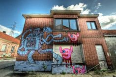 Doel – An Abandoned Village Offered To Street Art In Belgium,...