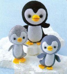 felt craft pattern | International Craft Patterns, Felt penguin