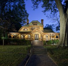 """The Wren's Nest, Atlanta, Georgia, home of Joel Chandler Harris, author of """"Uncle Remus."""" Built about it is a Queen Anne Style house. Georgia Homes, Atlanta Georgia, Georgia Usa, Uncle Remus, Centennial Olympic Park, Song Of The South, Home Still, Georgia Aquarium, Georgia On My Mind"""