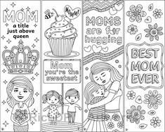 8 Coloring Bookmarks for Moms on Mother's Day #mom #mothersday