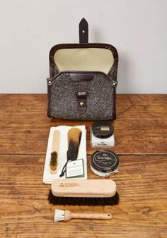 Shoe Care Valet Kit, Herdwyck, Leather and Brass - £210.00 - Lissom & Muster