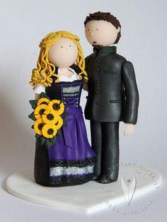 Trachten Brautpaar Hochzeitstortenfigur von www.tortenfiguren.at