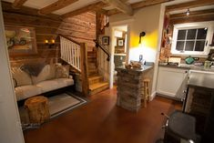 Green Gate Farmhouse – Tiny House Swoon – Something old, then something new. This 120+ year old cabin was recently given a major modern interior overhaul. Minnesota.