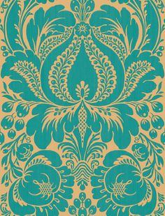 Peacock Large Scale Damask Wallpaper Sample - eclectic - wallpaper - Home  Depot 4c22d8a48