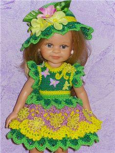 """Коллекция летних нарядов на паолок, фэйсинок и кукол Готц """"Бабочки, цветочки, лепесточки"""" / Одежда и обувь для кукол - своими руками и не только /…"""