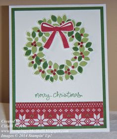 Stampin' Up! Wondrous Wreaths, Stamping with Citlalli