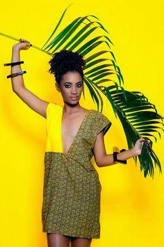 Tanzanian label Nyumbani design #ankara  #African print dress.Check out more on ciaafrique.com