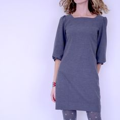 Possible tunic - La petite robe - Vanessa Pouzet Eshop Clothing Patterns, Dress Patterns, Sewing Patterns, Fashion Details, Diy Fashion, The Dress, High Neck Dress, Dress Pants, By Hand London