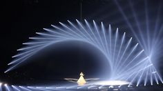 Stage set inspiration for Experience -Mythos Light Beam Stage Lighting Design, Cool Lighting, Stage Set Design, Concert Stage Design, Concert Lights, Theatre Design, Light Beam, Light Art, Installation Art