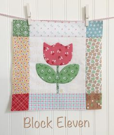 Bloom Sew Along Block 11 TUTORIAL featuring Lori Holt's Calico Days fabric collection #iloverileyblake #fabricismyfun