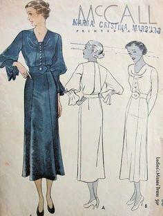 1930s McCall 8941 dress pattern