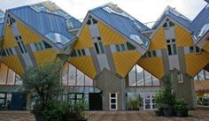 Located in the center of Rotterdam, these tilted cube-shaped houses form a village within the Dutch city, a modern concept designed to represent an urban forest. Completed in 1984 by the late architect Piet Blom, around 40 traditional houses were tilted at 45 degrees to rest on a hexagon-shaped pylon, transforming the idea of structural design by playing with angles and conventionality.