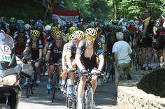 The tour de France on the Portet d'Aspet