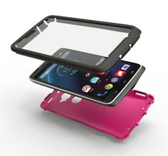 Motorola Droid Turbo 2-in-1 Complete Protection Case - Built-in Screen Protector keeps screen free from scratches