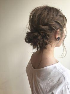 大人可愛いラフヘアセット Bridal Hairdo, Bridal Hair And Makeup, Best Wedding Hairstyles, Pretty Hairstyles, Bridesmaid Hair, Prom Hair, Temporary Hair Dye, Hair Upstyles, Hair Arrange