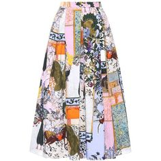 Erdem Elena Cotton Skirt ($1,335) ❤ liked on Polyvore featuring skirts, multicoloured, colorful skirts, multi colored skirt, cotton skirts, multi color skirt and erdem