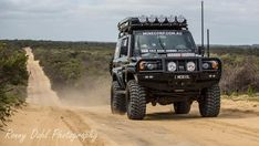 This fast tough looking 76 series Landcruiser wagon is known as the Black Knight and owned by a bloke called Anthony Collins and has be running 14 seconds on the quarter mile drag . Landcruiser Ute, Landcruiser 79 Series, Toyota 4x4, Toyota Trucks, Toyota Cruiser, Nissan Patrol, Land Rover Discovery, Pickup Trucks, Chevy Trucks