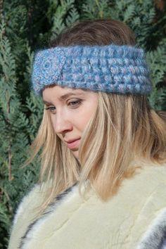 Трикотажные головная повязка Мягкая головная повязка рождественские подарки Синий с Monpasier