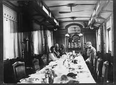 """Tsarevich Alexei Nikolaevich Romanov of Russia with officers on board the Imperial Royal Train in 1915. """"AL"""""""