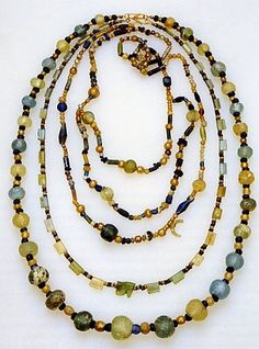 Roman glass necklaces, circa 100BC-200AD. Photo courtesy The History of Beads, by Lois Sherr Dubin.