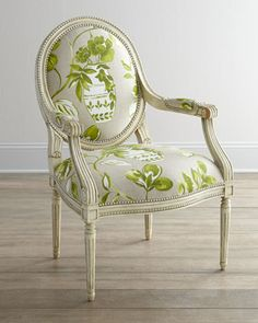 """Massoud """"Brinna"""" Chair - Horchow (different print) Living Room Chairs, Home Living Room, Dining Chairs, Furniture Styles, Home Furniture, Furniture Design, Classic Furniture, Chair And Ottoman, Armchair"""