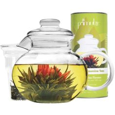 Primula Primula® Flowering tea pot set includes a wonderful gift canister of 12 different flowering teas, a glass teapot, lid and loose tea infuser along with brew and care instructions. Tea Gift Sets, Tea Gifts, Loose Tea Infuser, Perfect Cup Of Tea, Glass Teapot, Tea Benefits, Tea Pot Set, Flower Tea, Loose Leaf Tea