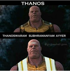 Thanos in south Indian movies is part of Bollywood funny - More memes, funny videos and pics on Funny Minion Memes, Very Funny Memes, Funny Marvel Memes, Funny School Jokes, Cute Funny Quotes, Some Funny Jokes, Marvel Jokes, Funny Puns, Funny Relatable Memes