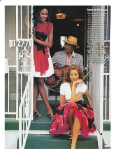 #vintage Christy Turlington & Naomi Campbell in Isaac Mizrahi photographed by Arthur Elgort for #Vogue February 1992 #90s #thesupers