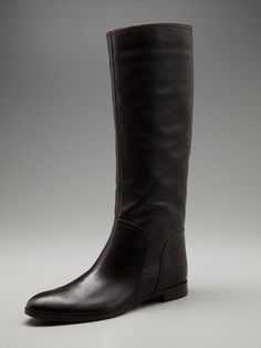 sergio rossi | pull on flat boot