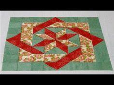 In questo filmato vedrete la realizzazione di un nuovo blocco in patchwork, composto da due quadrati intrecciati fra loro e da una stella centrale. Per riuscire a replicare