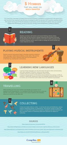 5 Hobbies That Will Make You Much Smarter Infographic - http://elearninginfographics.com/5-hobbies-will-make-much-smarter-infographic/
