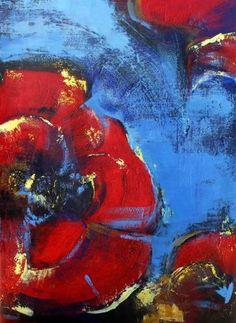 """Saatchi Art Artist Alla Dzevaltovska; Painting, """"Poppy 4"""" #art"""